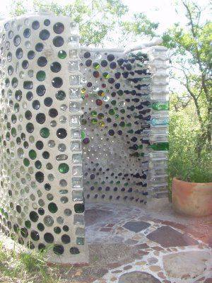 upcycle glass bottle ideas bricks