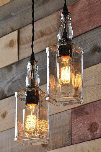 upcycle glass bottle ideas diy lights