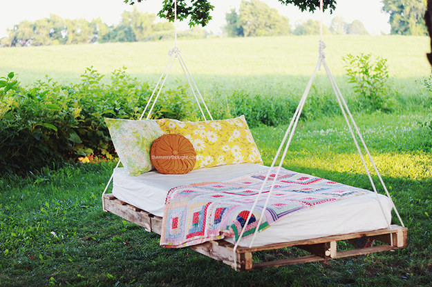 Pallet Project, Pallets, DIY, Interior, Upcycle, Upcycling, Wood, , Garden, Bed, Hanging, Easy