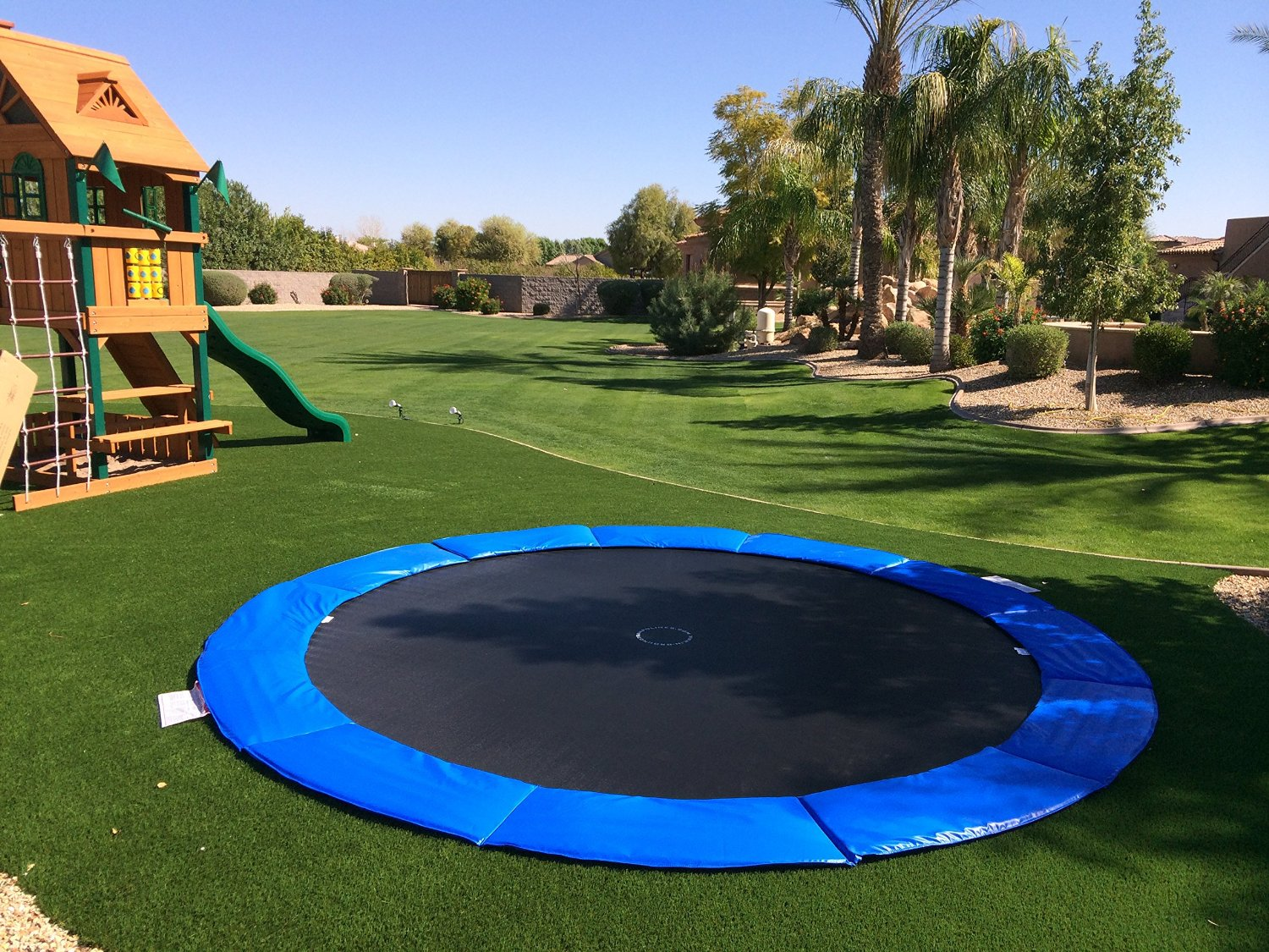how to build an in ground trampoline the handy mano. Black Bedroom Furniture Sets. Home Design Ideas