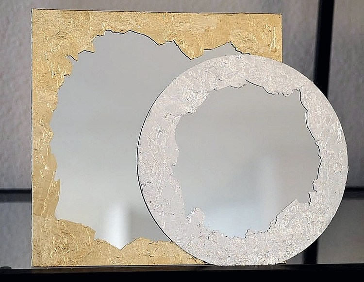 stunning upcycled mirror frame ideas DIY the handy mano manomano gold silver leaf