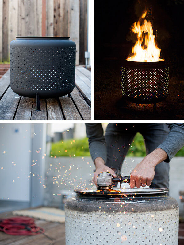outdoor DIY fire pit ideas designs how to build the handy mano manomano washing machine drum