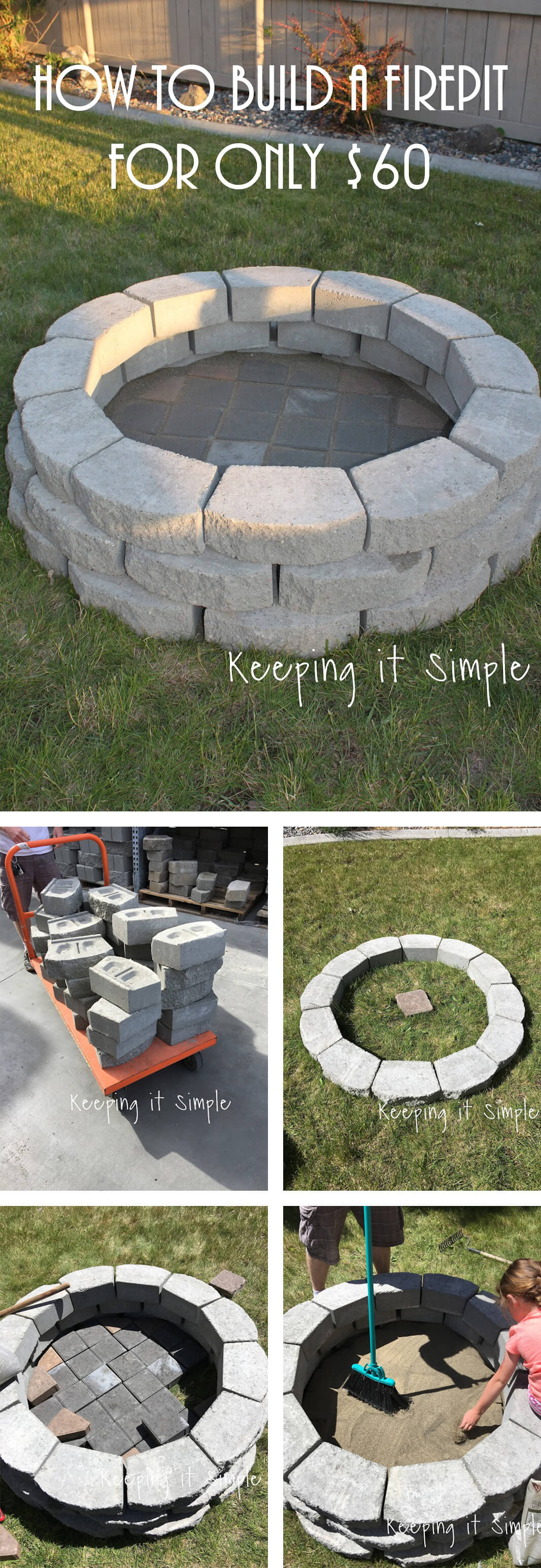 outdoor DIY fire pit ideas designs how to build the handy mano manomano stone