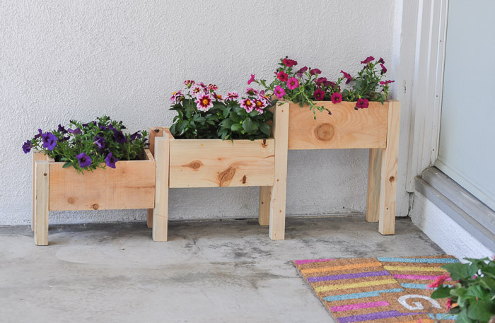 wooden planters planter tiered how to DIY the handy mano manomano