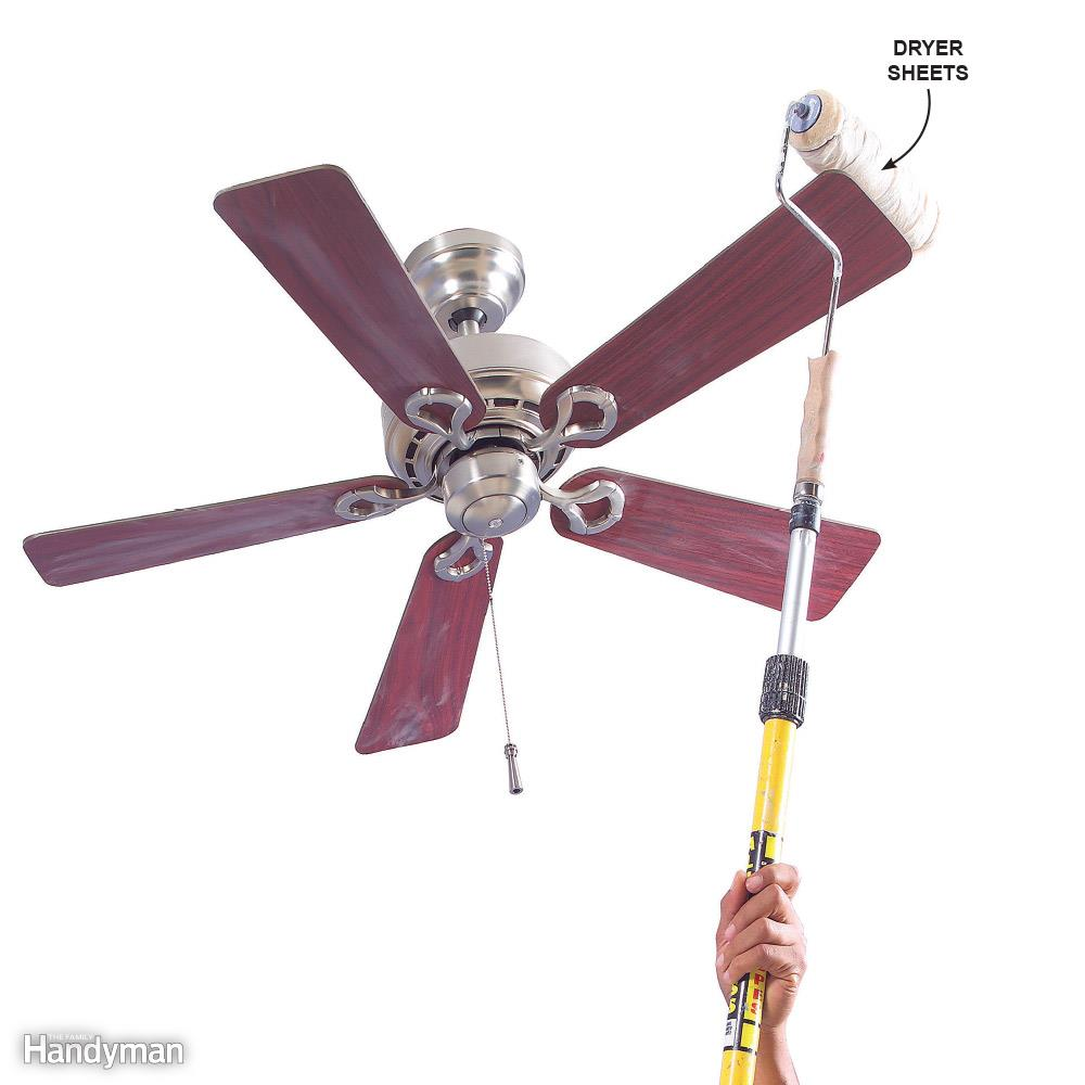 Manomano mano mano thehandymano the handy mano diy do it yourself Quick and Easy House Cleaning Tips 10 Cleaning Solutions by Experts roller dust tall ceiling fan
