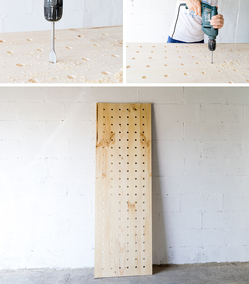 manomano mano mano the handy diy do it yourself projects build make do pegboard wooden wood drill holes drill bit