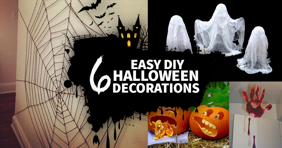 manomano mano mano the handy diy do it yourself 6 Easy Homemade Halloween Decorations easy projects kids
