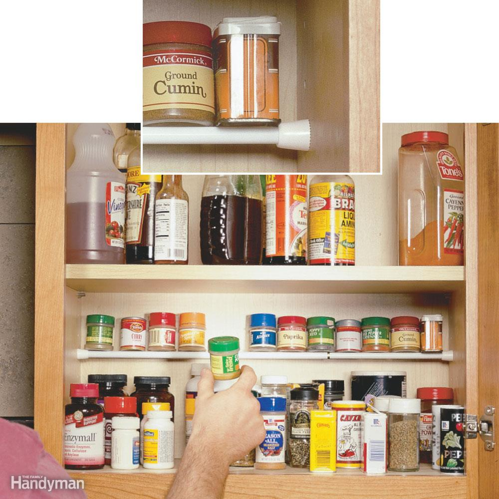 10 Clever Ways of Organising your Home the handy mano handymano manomano mano diy do it yourself projects home improvement organisation tips tricks hacks tidy tension rod cuboard