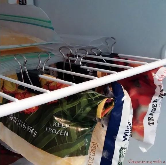 10 Clever Ways of Organising your Home the handy mano handymano manomano mano diy do it yourself projects home improvement organisation tips tricks hacks tidy binder clips freezer