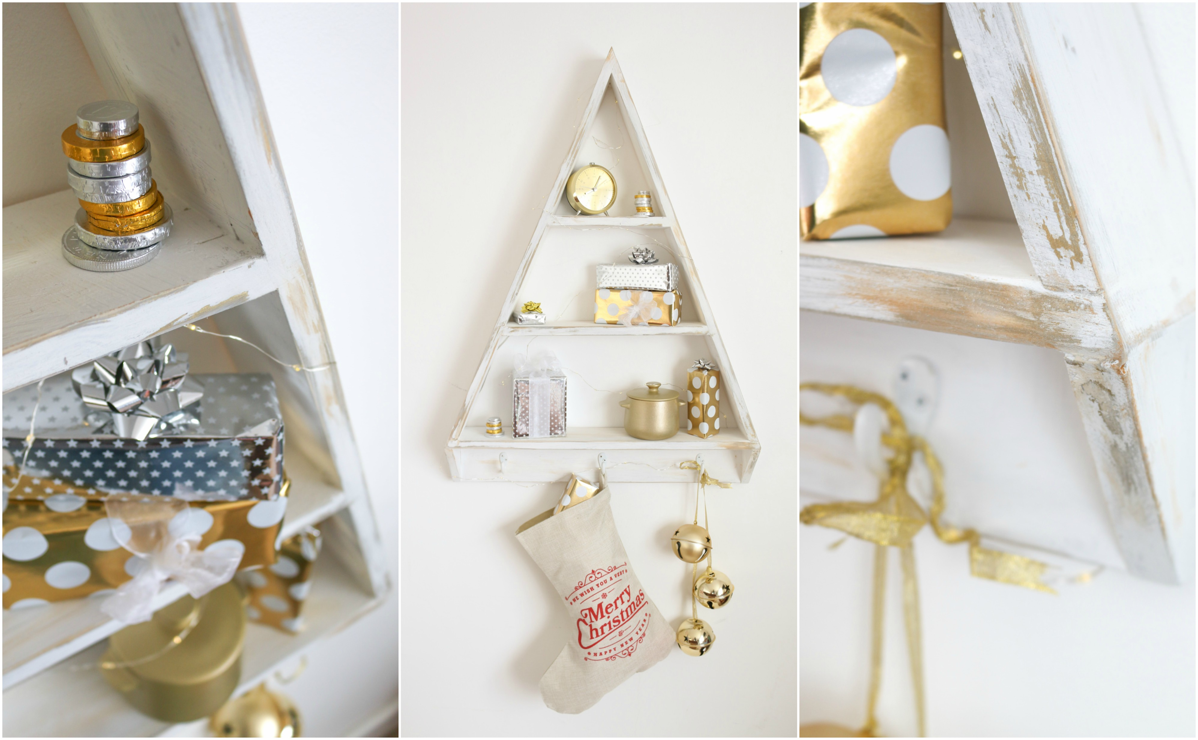 Diy Christmas Tree Shelves Alternative Christmas Tree The Handy Mano