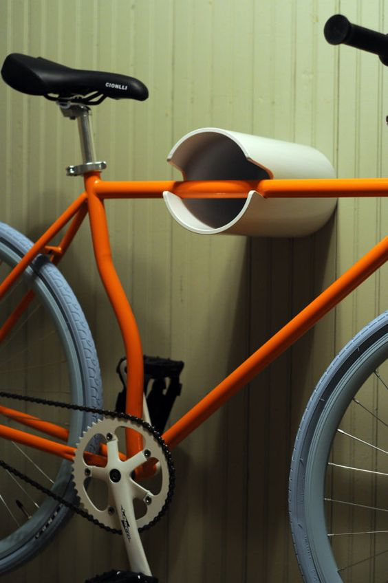 10 Interesting DIY Bike Storage Ideas bike rack indoor display stand hook cool PVC ... & Top 10 DIY Bike Storage Ideas and Inspiration- The Handy Mano