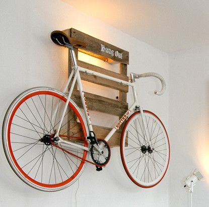 10 Interesting DIY Bike Storage Ideas bike rack indoor display stand hook cool pallet pallets ... & Top 10 DIY Bike Storage Ideas and Inspiration- The Handy Mano