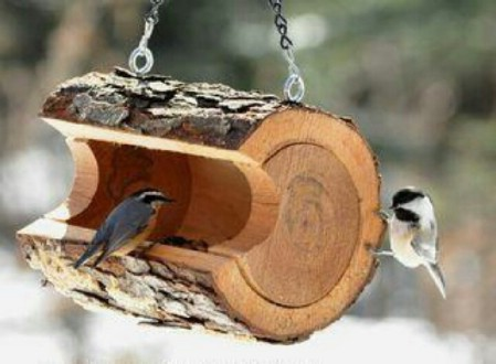 8 Simple Ways to Make a DIY Bird Feeder home made bird feeders easy simple make your own handy mano manomano log