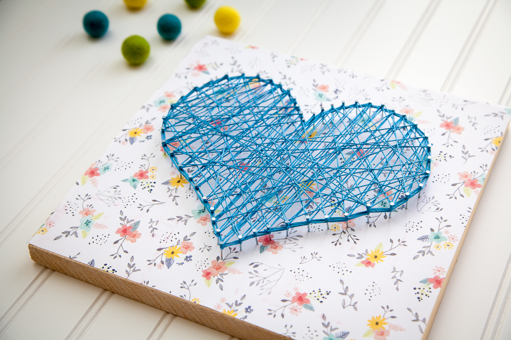 mother s day gift ideas string art homemade gifts. Black Bedroom Furniture Sets. Home Design Ideas