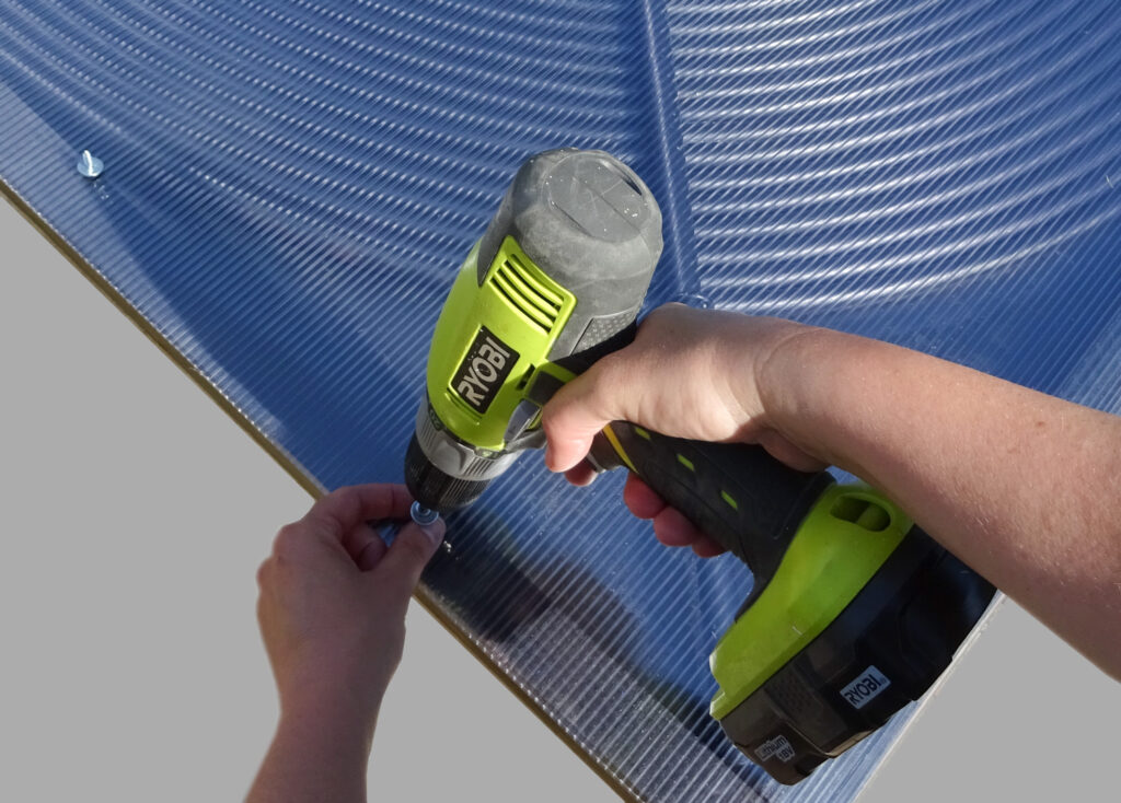 Attach a polycarbonate sheet to create even more heat for your pool