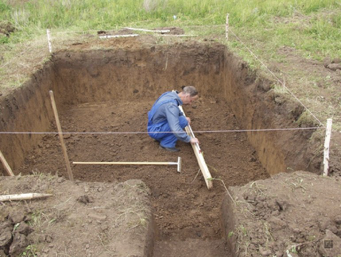 Excavate & fortify the space for your natural swimming pool