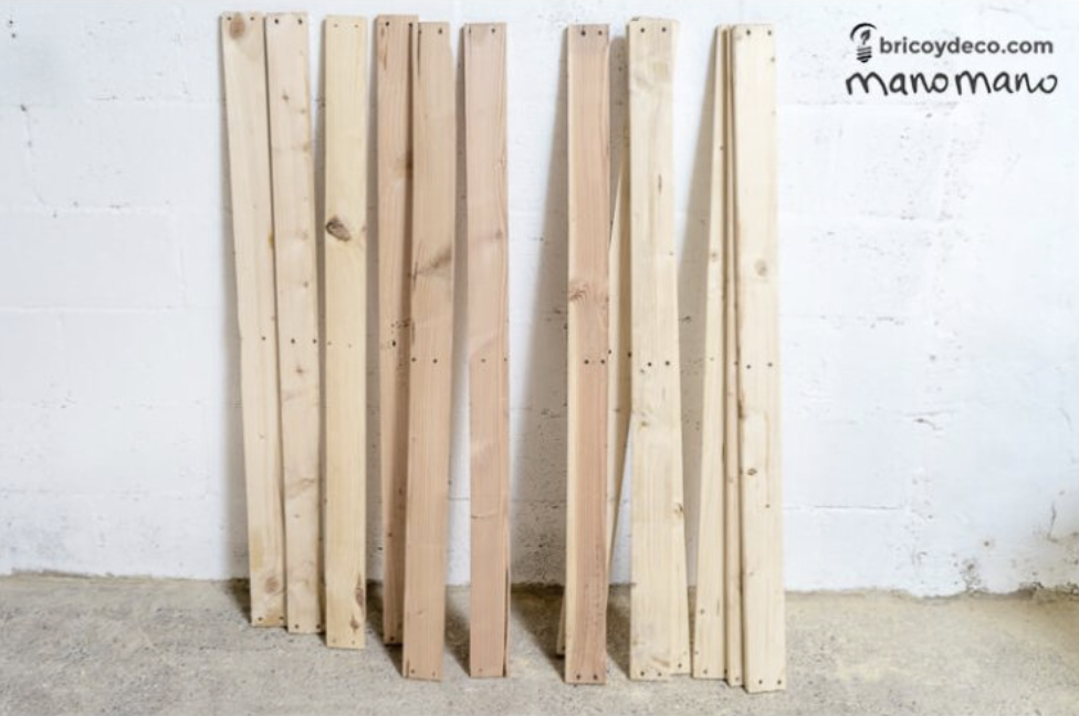 The shoe rack project requires a minimum of 26 slats
