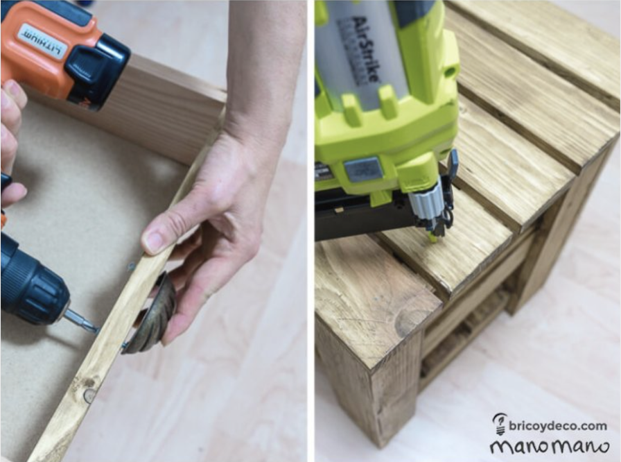 The finishing touches to your DIY pallet project