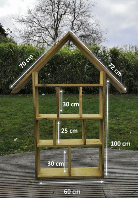 Build the insect hotel structure