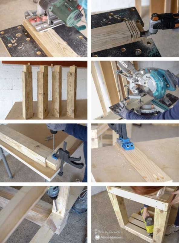 Build the frame of the mobile workbench