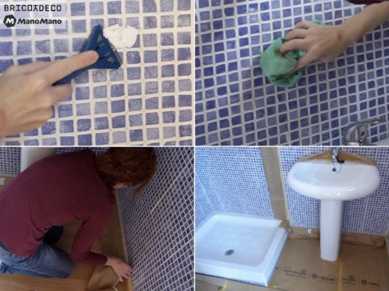 Prepare the surface before you begin painting the tiles