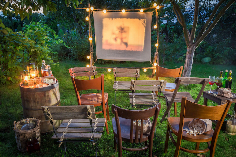 Enjoy the long summer nights with an outdoor cinema