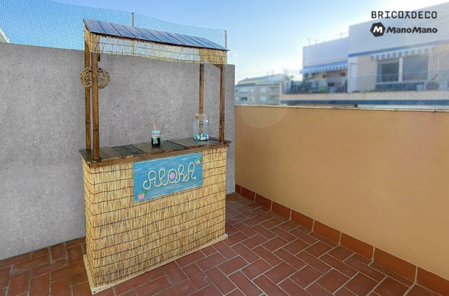 Add some accessories to your DIY tiki bar