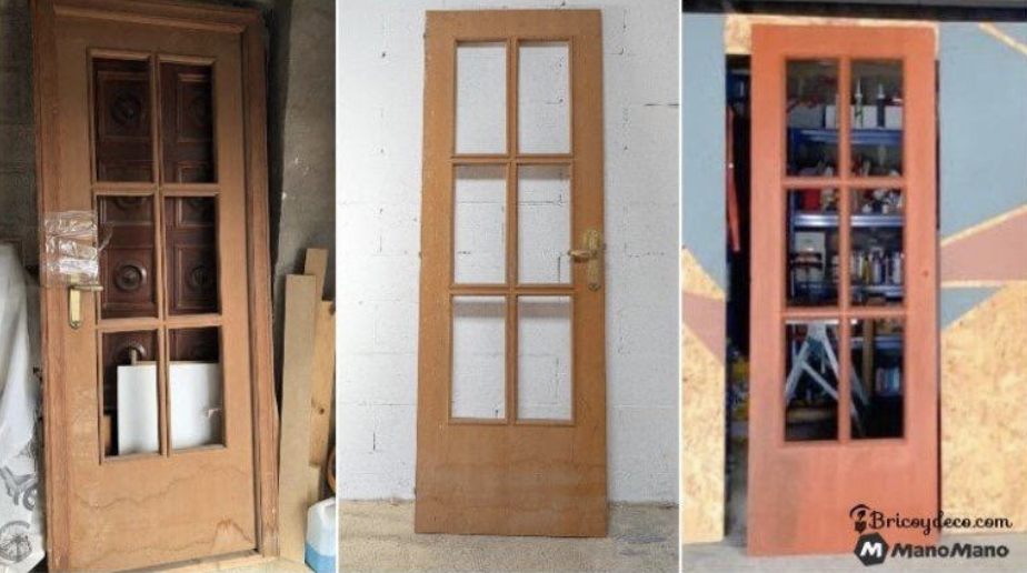 Upcycle an old door into a functional sliding door