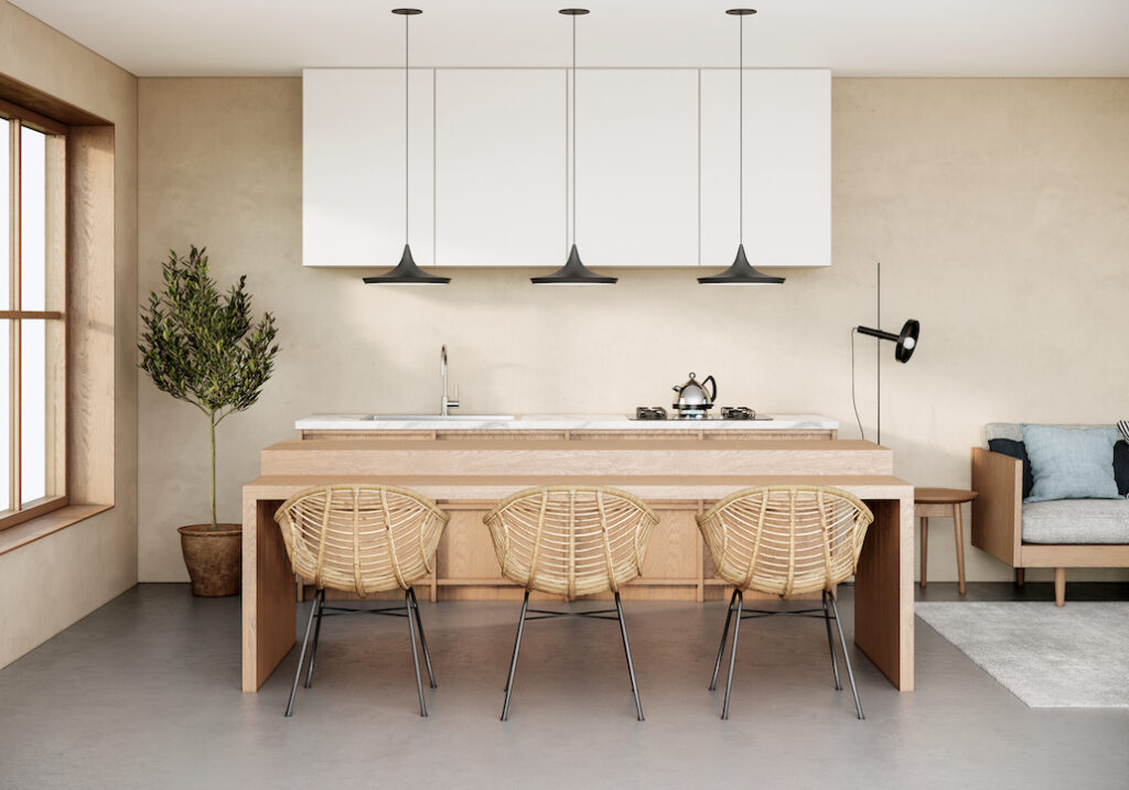 Essential furniture comprising a variety of natural materials